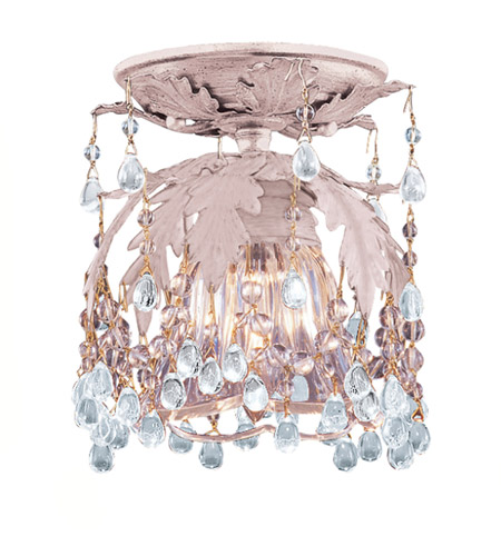 Crystorama Melrose 1 Light Semi-Flush Mount in Blush, Clear Crystal 5230-BH-CLEAR photo