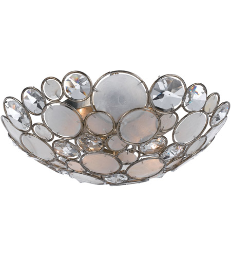 Crystorama 524-SA Palla 3 Light 16 inch Antique Silver Semi Flush Mount Ceiling Light photo