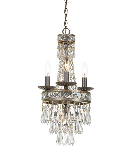 Crystorama 5263-EB-CL-MWP Mercer 4 Light 11 inch English Bronze Mini Chandelier Ceiling Light in English Bronze (EB) photo