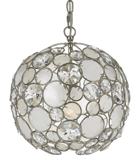 Crystorama 527-SA Palla 1 Light 13 inch Antique Silver Mini Chandelier Ceiling Light photo