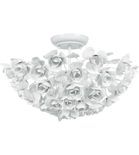 Crystorama 530-WW Cypress 3 Light 18 inch Wet White Semi Flush Mount Ceiling Light  photo