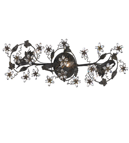 Crystorama Abbie 3 Light Vanity Light in Dark Rust 5304-DR