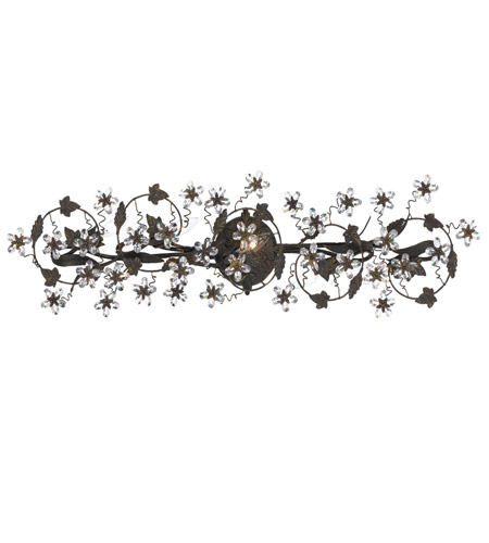 Crystorama Abbie 5 Light Bath Light in Dark Rust with Hand Polished Crystals 5307-DR