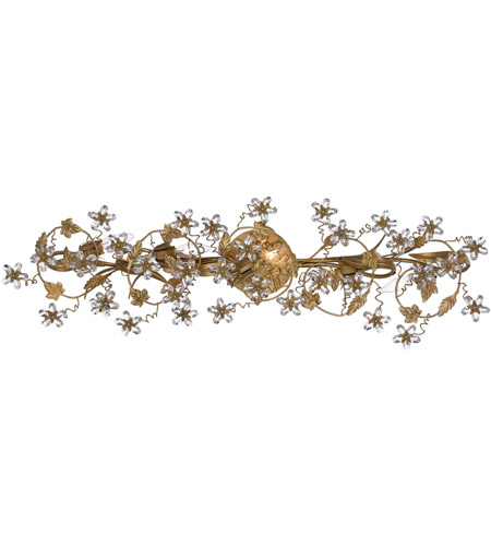 Crystorama Abbie 5 Light Vanity Light in Gold Leaf 5307-GL photo