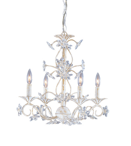 Crystorama 5404-AW Paris Market 4 Light 18 inch Antique White Mini  Chandelier Ceiling Light in Hand Cut, Antique White (AW) - Crystorama 5404-AW Paris Market 4 Light 18 Inch Antique White Mini