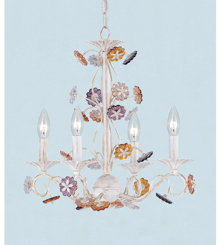 Crystorama 5414 aw retro 4 light 18 inch antique white mini crystorama 5414 aw retro 4 light 18 inch antique white mini chandelier ceiling light in hand cut antique white aw mozeypictures Gallery