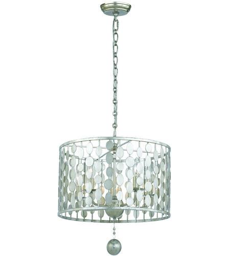 Crystorama 545-SA Layla 5 Light 18 inch Antique Silver Chandelier Ceiling  Light in Antique Silver (SA) - Crystorama 545-SA Layla 5 Light 18 Inch Antique Silver Chandelier
