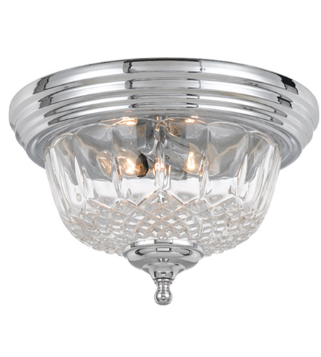 Signature 2 Light 13 Inch Polished Chrome Semi Flush Mount Ceiling
