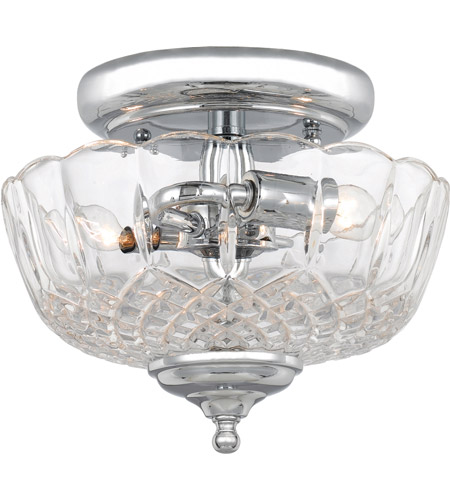 Crystorama 55-SF-CH Signature 2 Light 9 inch Polished Chrome Semi Flush Mount Ceiling Light photo