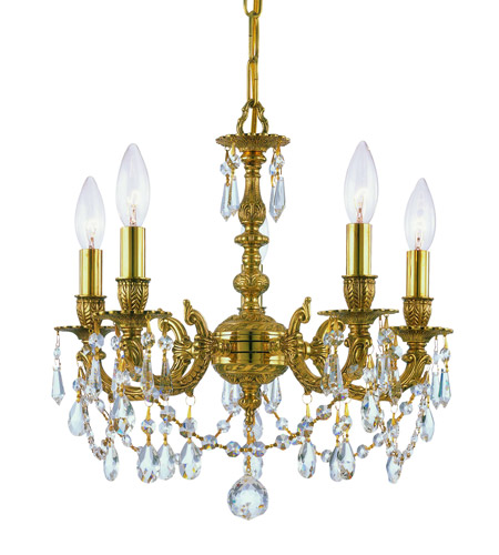 Crystorama Lighting Mirabella 5 Light Mini Chandelier in Olde Brass & Swaroski Strass - Clear 5505-OB-CL-S photo