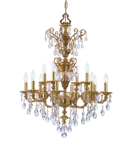 Crystorama Mirabella 12 Light Chandelier in Olde Brass 5512-OB-CL-SAQ photo