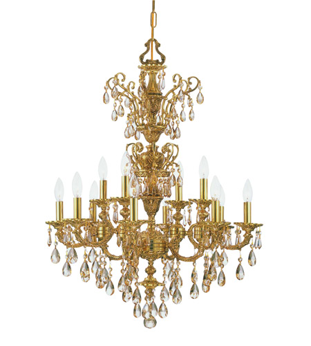 Crystorama Mirabella 12 Light Chandelier in Olde Brass 5512-OB-GTS photo