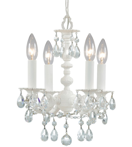Crystorama 5514-WW-CL-MWP Paris Market 4 Light 11 inch Wet White Mini Chandelier Ceiling Light photo