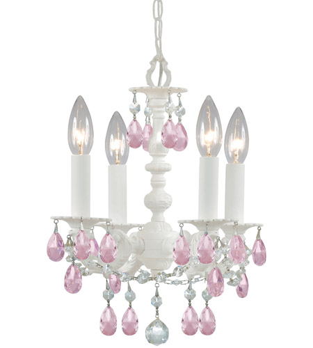 Crystorama 5514-WW-RO-MWP Paris Market 4 Light 11 inch Wet White Mini Chandelier Ceiling Light photo