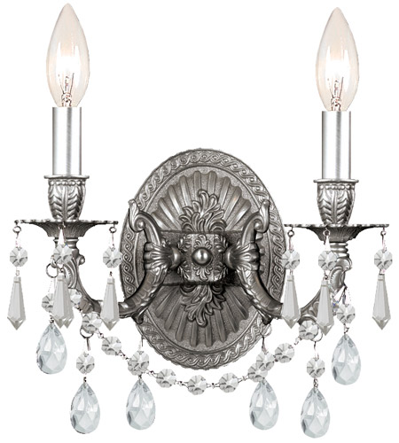 Crystorama Gramercy 2 Light Wall Sconce in Pewter 5522-PW-CL-SAQ photo