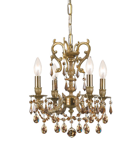 Crystorama Gramercy 4 Light Mini Chandelier in Aged Brass 5524-AG-GTS photo