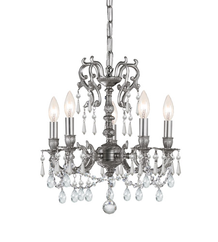 Crystorama Gramercy 5 Light Mini Chandelier In Pewter 5525 Pw Cl S Photo