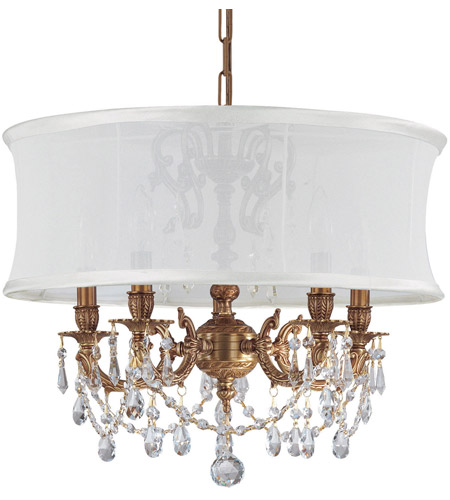 Crystorama Antique Brass Chandeliers