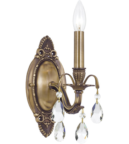 Crystorama Dawson 1 Light Wall Sconce in Antique Brass 5561-AB-CL-S photo