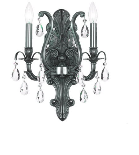 Crystorama Dawson 2 Light Wall Sconce in Pewter 5563-PW-CL-MWP photo