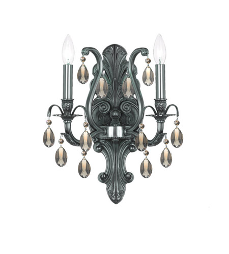 Crystorama Dawson 2 Light Wall Sconce in Pewter 5563-PW-GTS photo
