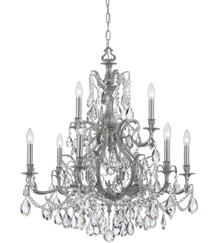 Crystorama 5579 pw cl mwp dawson 9 light 30 inch pewter chandelier crystorama 5579 pw cl mwp dawson 9 light 30 inch pewter chandelier ceiling light in pewter pw clear hand cut aloadofball Image collections