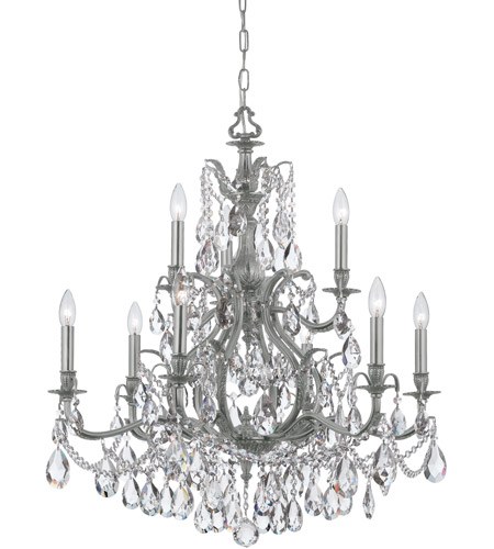 Crystorama 5579-PW-CL-SAQ Dawson 9 Light 30 inch Pewter Chandelier Ceiling Light in Pewter (PW), Swarovski Spectra (SAQ) photo