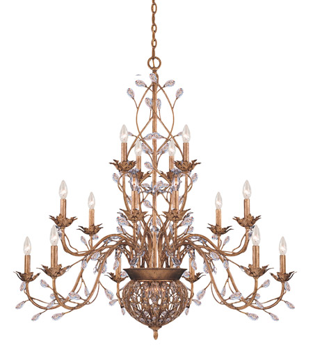 Crystorama Bethany 15 Light Chandelier in Etruscan Gold 5619-EG photo