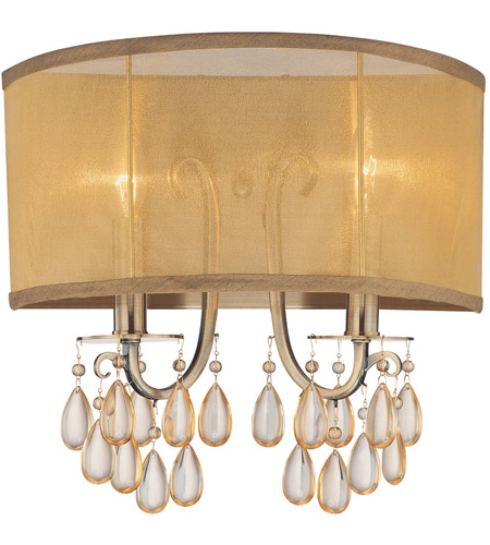 Crystorama Hampton 2 Light Wall Sconce in Antique Brass 5622-AB photo