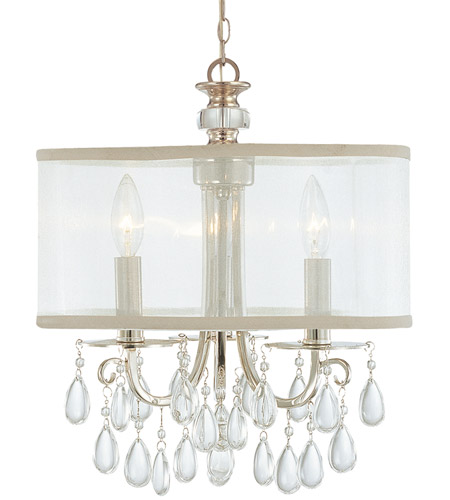 Crystorama 5623 ch hampton 3 light 14 inch polished chrome mini crystorama 5623 ch hampton 3 light 14 inch polished chrome mini chandelier ceiling light in polished chrome ch clear smooth teardrop almond aloadofball Images