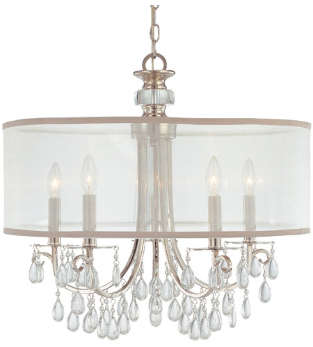 Crystorama Hampton 5 Light Chandelier in Polished Chrome 5625-CH photo