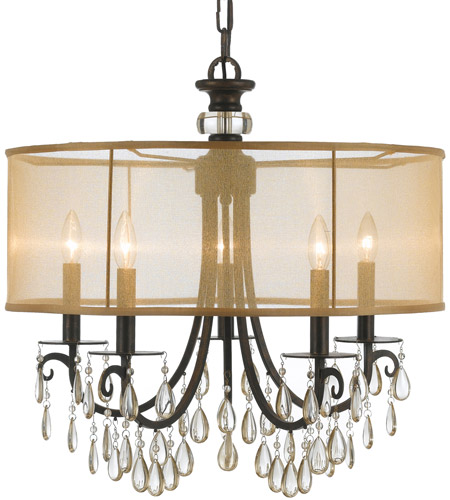 Crystorama Hampton 5 Light Chandelier in English Bronze 5625-EB photo