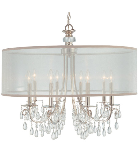 Crystorama Hampton 8 Light Chandelier in Polished Chrome 5628-CH photo