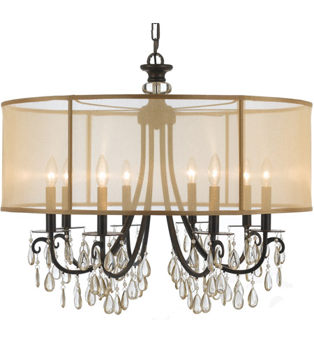 Crystorama Hampton 8 Light Chandelier in English Brass 5628-EB photo