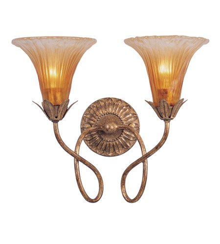 Crystorama Lighting European Classic 2 Light Wall Sconce in Gold Leaf 5672-GL photo