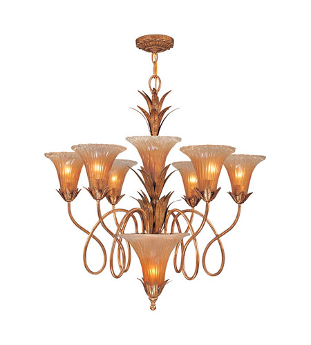 Crystorama European Classic 7 Light Chandelier in Gold Leaf 5676-GL photo
