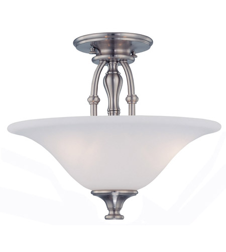Crystorama Cortland 3 Light Semi-Flush Mount in Satin Nickel 5684-SN photo