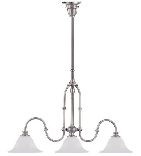 Crystorama Lighting Cortland 3 Light Billard Light in Satin Nickel 5689-SN photo