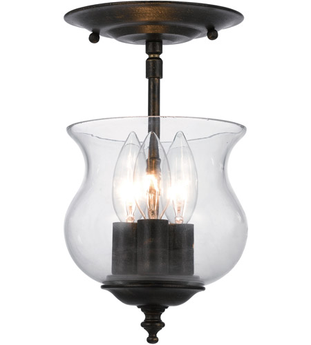Crystorama 5715-EB Ascott 3 Light 7 inch English Bronze Semi Flush Mount Ceiling Light in English Bronze (EB) photo