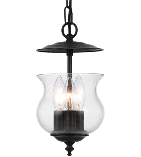 Crystorama 5717-EB Ascott 3 Light 7 inch English Bronze Hanging Lantern Ceiling Light in English Bronze (EB) photo