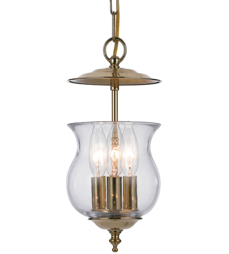 Crystorama Ascott 3 Light Foyer Lantern in Polished Brass 5717-PB photo