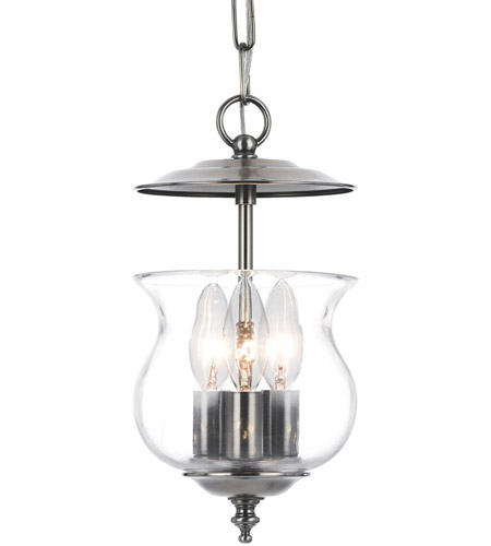 Crystorama 5717-PW Ascott 3 Light 7 inch Pewter Hanging Lantern Ceiling Light in Pewter (PW) photo