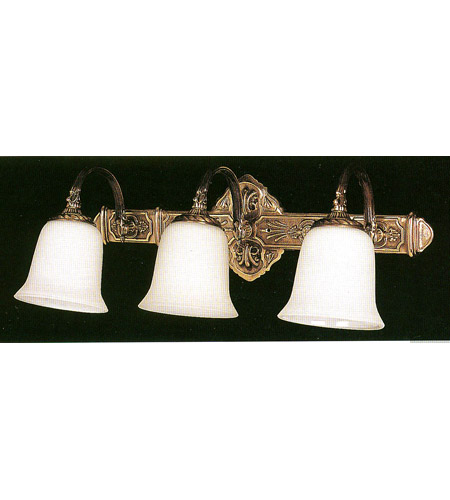 Crystorama Lighting Hot Deal 3 Light Wall Sconce in Olde Brass 573-OB photo