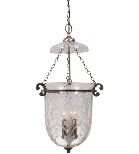 Crystorama Camden 3 Light Pendant in Antique Brass 5763 AB