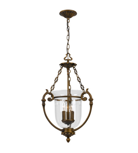 Crystorama Camden 3 Light Pendant in Antique Brass 5773-AB photo
