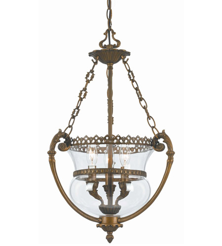 Crystorama Camden 3 Light Pendant in Antique Brass 5793-AB photo