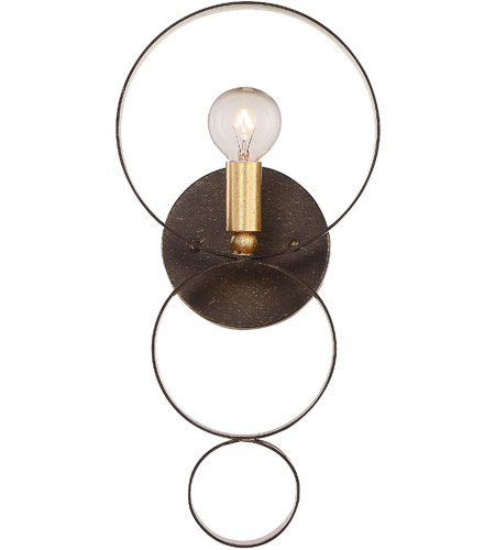 Crystorama 581-EB-GA Luna 1 Light 7 inch English Bronze and Antique Gold Wall Sconce Wall Light in English Bronze and Antique Gold (EB-GA)  sc 1 st  Crystorama Lighting Lights & Crystorama 581-EB-GA Luna 1 Light 7 inch English Bronze and Antique ...