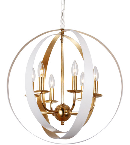 Crystorama 585 mt ga luna 6 light 21 inch matte white and antique crystorama 585 mt ga luna 6 light 21 inch matte white and antique gold chandelier ceiling light in matte white mt aloadofball Choice Image