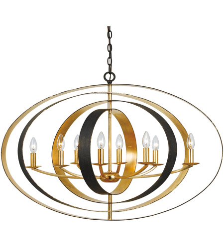 Crystorama 588-EB-GA Luna 8 Light 36 inch English Bronze and Antique Gold Chandelier Ceiling Light in English Bronze and Antique Gold (EB-GA) photo