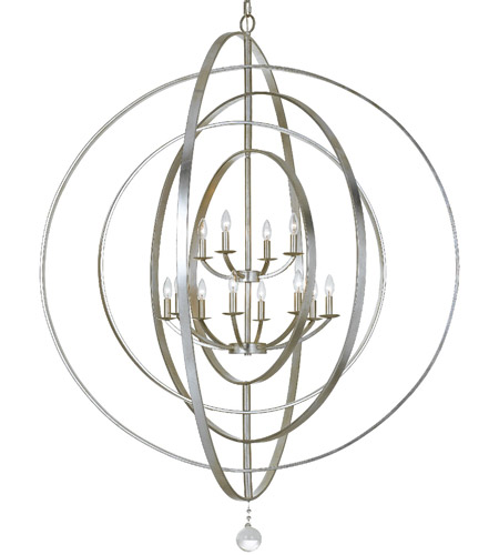 Crystorama 590-SA Luna 12 Light 60 inch Antique Silver Chandelier Ceiling  Light in Antique - Crystorama 590-SA Luna 12 Light 60 Inch Antique Silver Chandelier